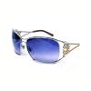 镶水晶金属框太阳镜