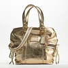 CoachPOPPY系列金色水洗做旧两用包