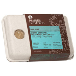 潘丽雅草本洁肤皂(印度绿茶、薄荷及玫瑰花瓣)