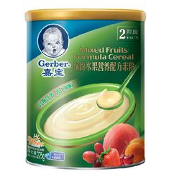 嘉宝缤纷水果配方营养米粉