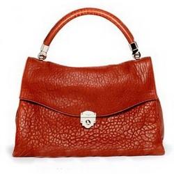 YSL圣罗兰橘红色手提包