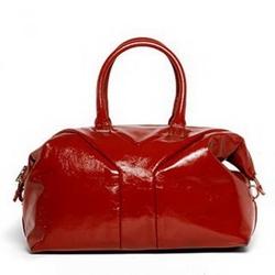 YSL圣罗兰红色漆皮Easy bag
