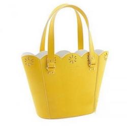 Kate Spade09春夏系列黄色皮革手提包