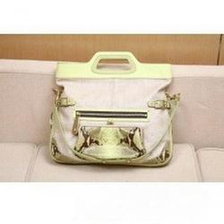 蔻驰09春夏Bonnie系列鳄鱼皮装饰折叠手提包