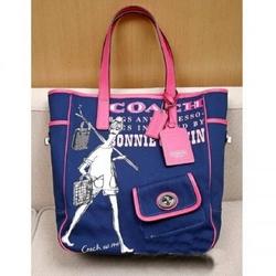 蔻驰09春夏09春夏Bonnie系列涂鸦帆布手袋(蓝色)