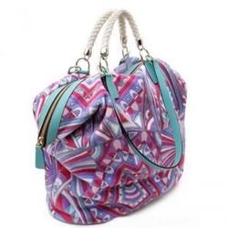 璞琪09春夏系列彩色印花手提包