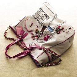 蔻驰09春夏系列帆布手提包