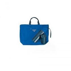 Prada蓝色尼龙大手袋