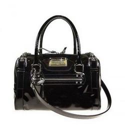 Dolce & Gabbana黑色漆皮手提包