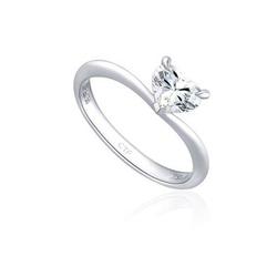 Chow Tai Fook白色18k金钻石戒指