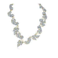 Tiffany & CoJean Schlumberger Leaves 钻石项链