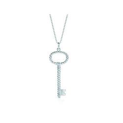 蒂芙尼扭纹椭圆形钥匙吊坠
