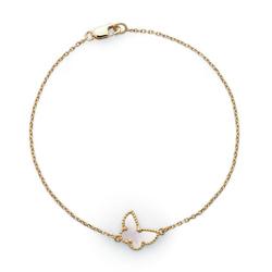 VanCleef&ArpelsSweet Alhambra 白珍珠母贝手链 -蝴蝶