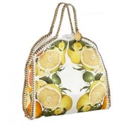 斯特拉麦卡托尼奶油色水果风情印花手提包