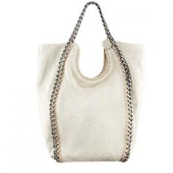 斯特拉麦卡托尼奶油色Chain-Strap时尚购物袋(2011新款)