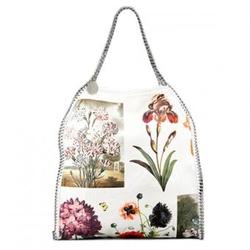 斯特拉麦卡托尼白色彩色植物印花链条肩包
