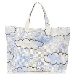 斯特拉麦卡托尼天蓝色白云印花时尚手提袋(伦敦限量版)