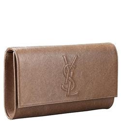 YSL圣罗兰棕色压纹LOGO大号手包(颜色可选)