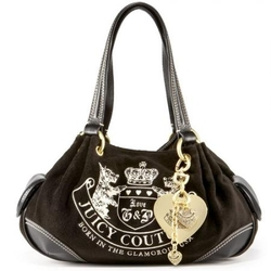Juicy Couture黑色Crest Baby Flutty时尚挎包