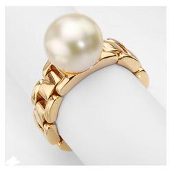 AUTORE正品  18K黄金100%纯正珍珠戒指
