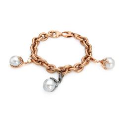 AUTORE正品  18K彩金0.32克拉总重100%纯正珍珠手链