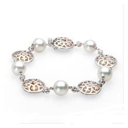 AUTORE正品  18K彩金1.40克拉总重100%纯正珍珠手链