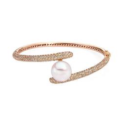 AUTORE正品  18K玫瑰金4.63克拉总重100%纯正珍珠手链