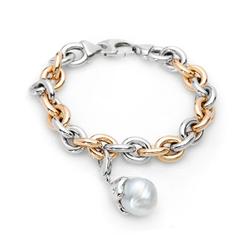 AUTORE正品  18K彩金0.05克拉总重100%纯正珍珠手链