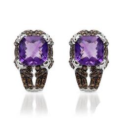 fpj正品  高质量14K白金10.90克拉总重100%纯天然钻石耳环