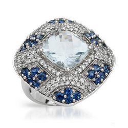 FPJfpj正品  高质量14K白金5.38克拉总重100%纯天然钻石戒指