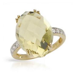 fpj正品  高质量14K黄金14.01克拉总重100%纯正石英戒指