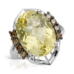 fpj正品  高质量14K白金8.50克拉总重100%纯正石英戒指