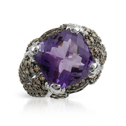fpj正品  高质量14K白金7.60克拉总重100%纯天然钻石戒指