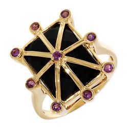 FPJfpj正品  14K黄金9.00克拉总重100%纯正缟玛瑙戒指