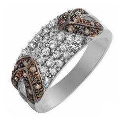 fpj全新正品  高质量10K白金0.70克拉总重100%纯天然钻石戒指