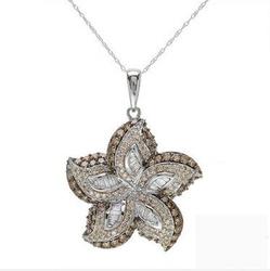 fpj正品  高质量14K白金2.45克拉总重100%纯天然钻石项链