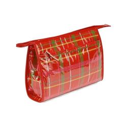 凯特・丝蓓红色格纹图案化妆包