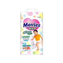 妙而舒学步裤婴儿纸尿裤特大号(XL)