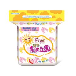 Free•飞彩色亲肤立围日用丝薄棉柔表层卫生巾8片