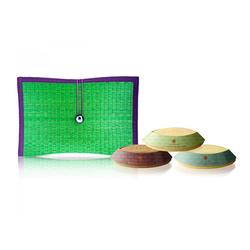 HARNN涵庭芦苇编织三皂礼盒-绿