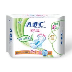 ABC个人护理亲柔立围量多日用轻透薄网感棉柔表层卫生巾