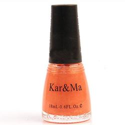 【其他】卡玛橙橘色独特剔透环保指甲油