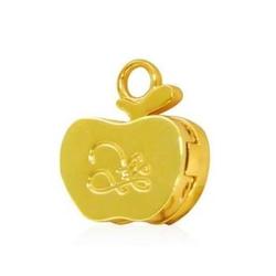 【其他】圣诞节奏迷你金苹果香膏-项链