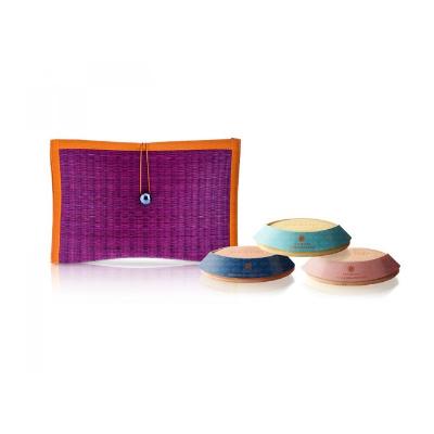 芦苇编织三皂礼盒-紫