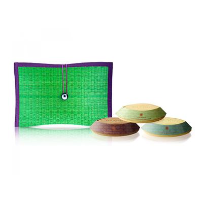 芦苇编织三皂礼盒-绿
